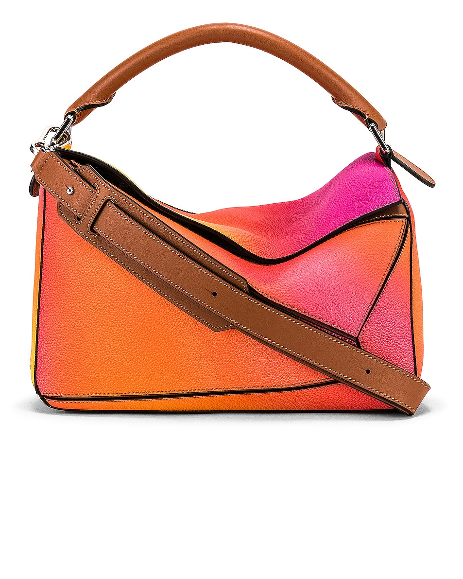 Image 1 of Loewe Puzzle Spray Bag in Orange Sunset