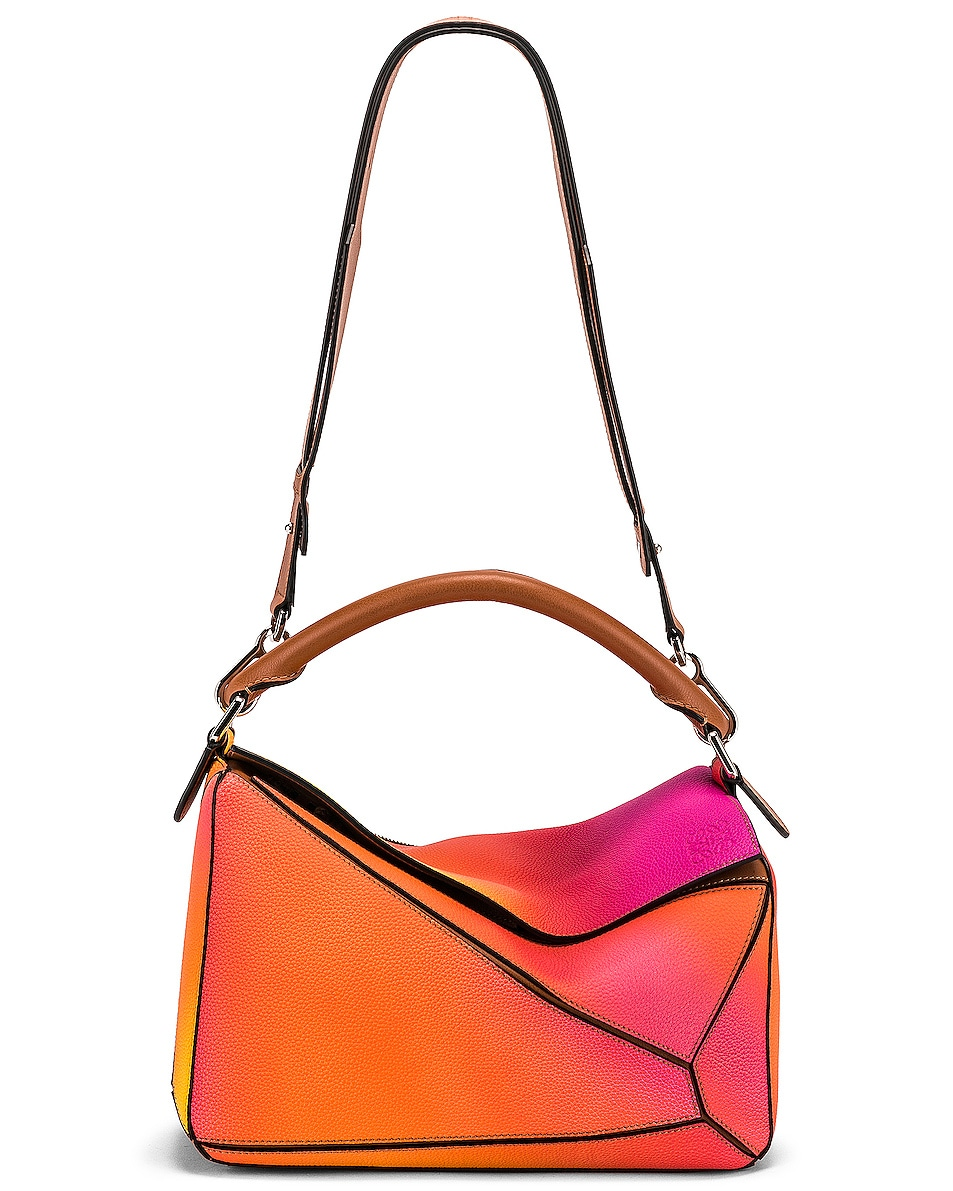 Image 6 of Loewe Puzzle Spray Bag in Orange Sunset