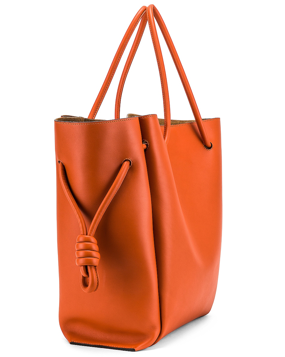 Image 4 of Loewe Flamenco Knot Tote Bag in Ginger