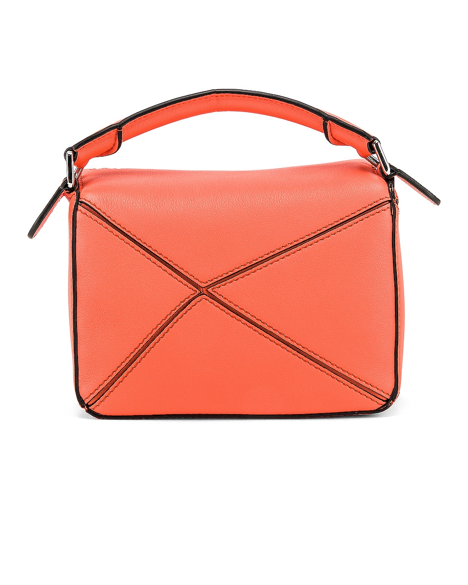 Image 3 of Loewe Puzzle Mini Bag in Bright Peach