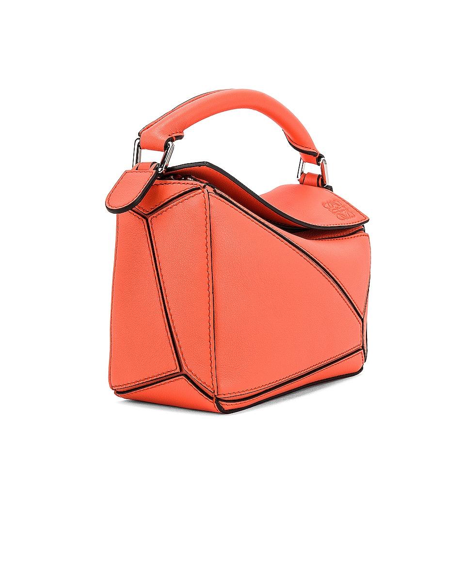 Image 4 of Loewe Puzzle Mini Bag in Bright Peach