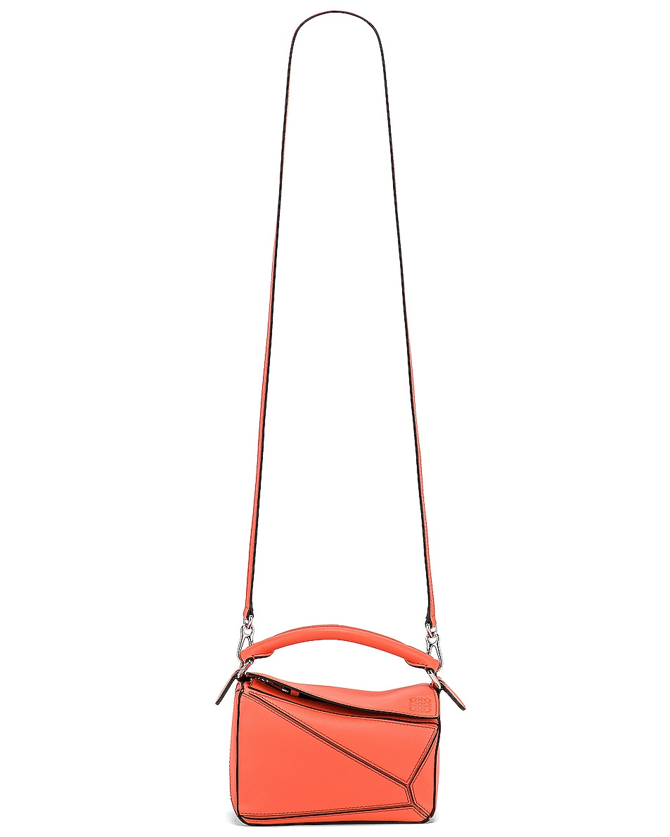 Image 6 of Loewe Puzzle Mini Bag in Bright Peach