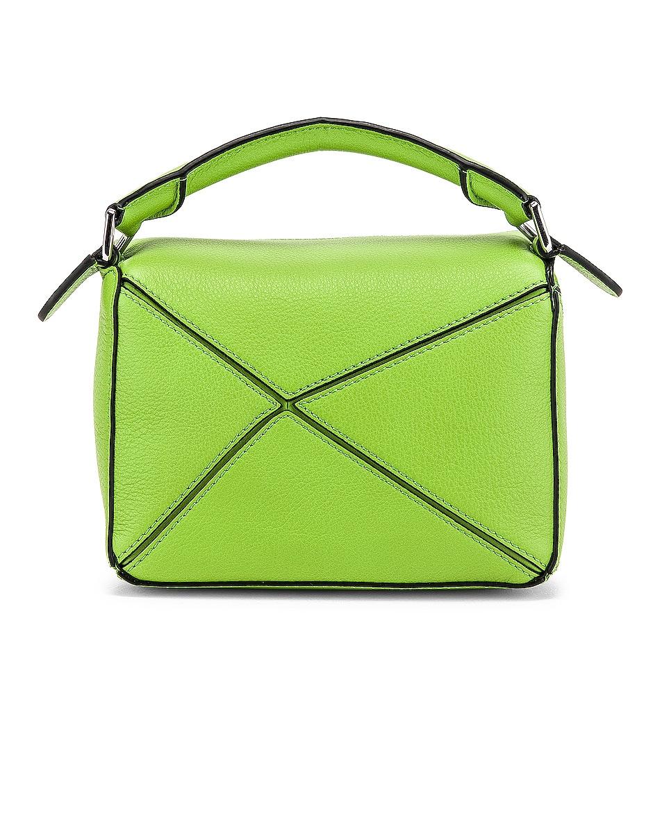 Image 3 of Loewe Puzzle Mini Bag in Green