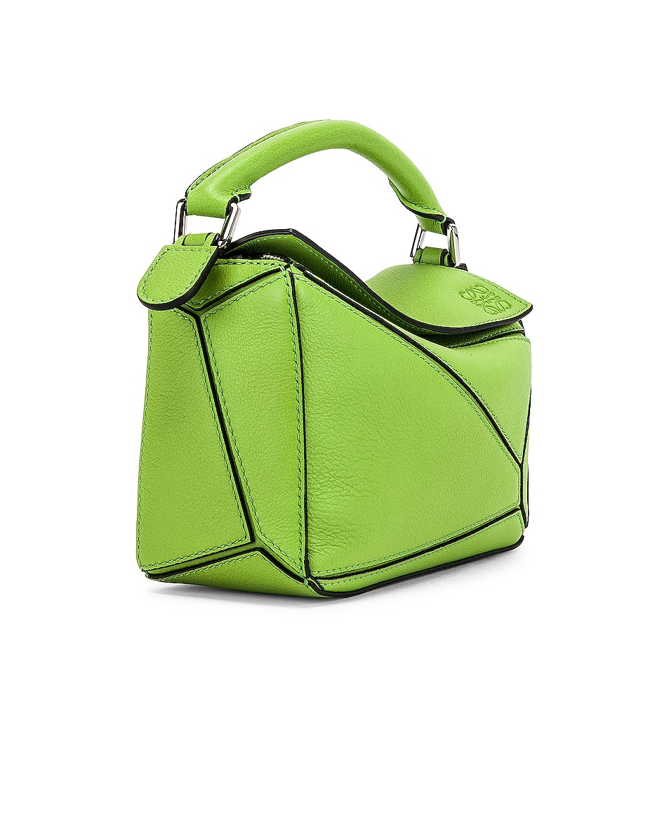 Image 4 of Loewe Puzzle Mini Bag in Green