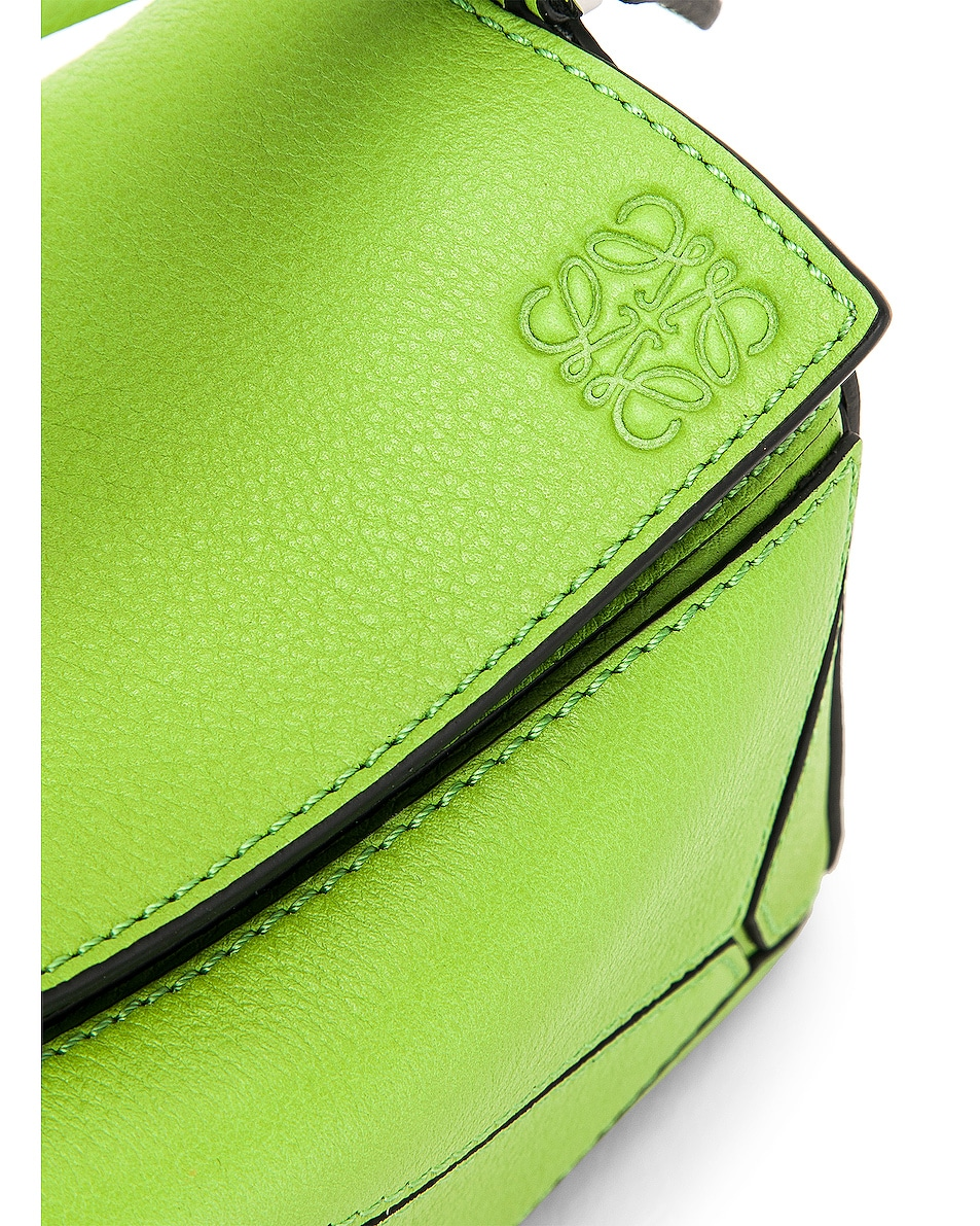 Image 8 of Loewe Puzzle Mini Bag in Green