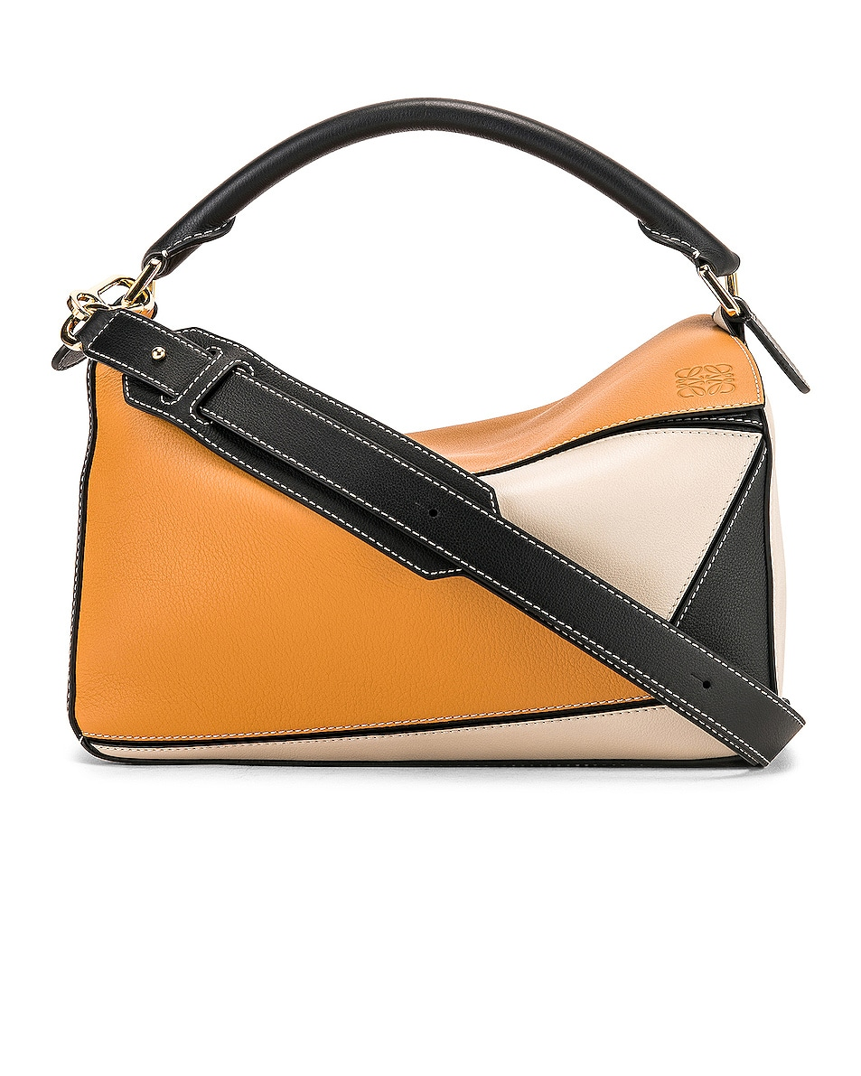 Image 1 of Loewe Puzzle Bag in Amber & Light Oat