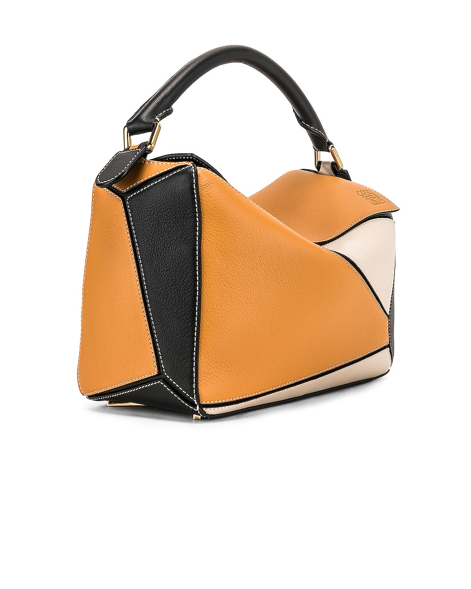 Image 4 of Loewe Puzzle Bag in Amber & Light Oat