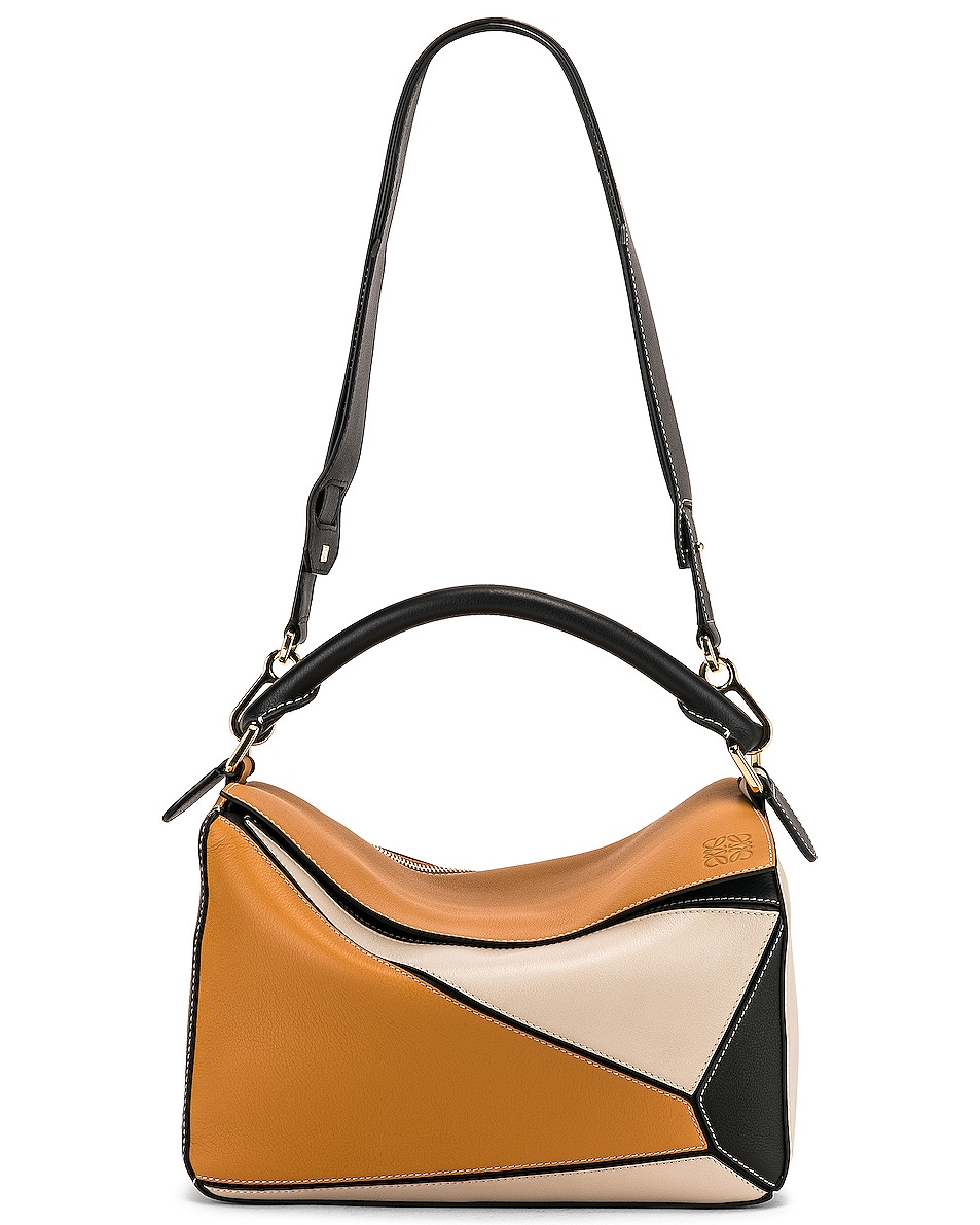Image 6 of Loewe Puzzle Bag in Amber & Light Oat
