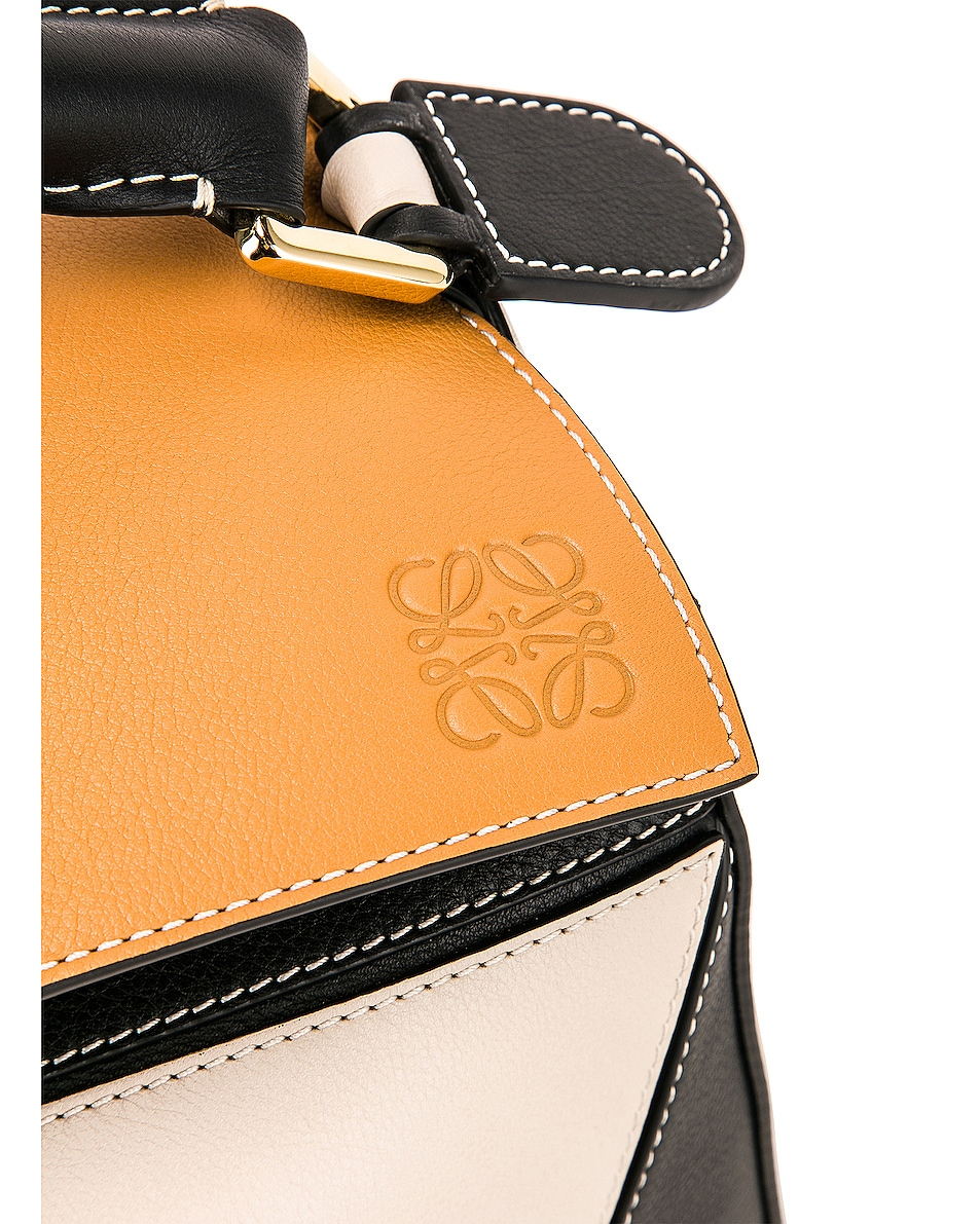 Image 8 of Loewe Puzzle Bag in Amber & Light Oat