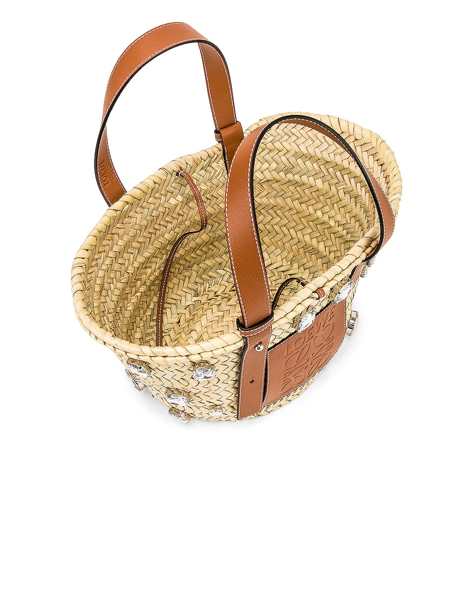 Image 4 of Loewe Small Stones Basket in Natural & Tan