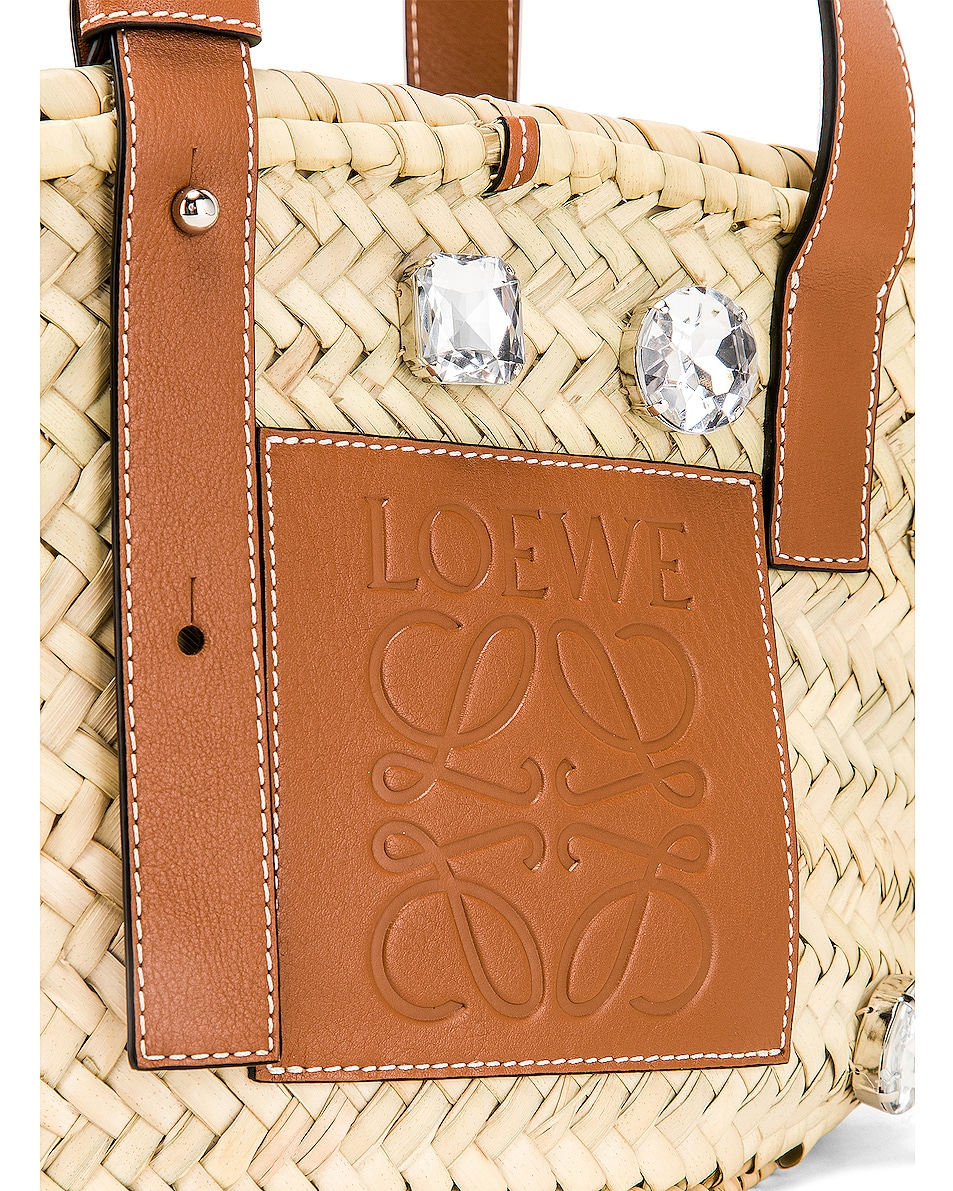 Image 5 of Loewe Small Stones Basket in Natural & Tan