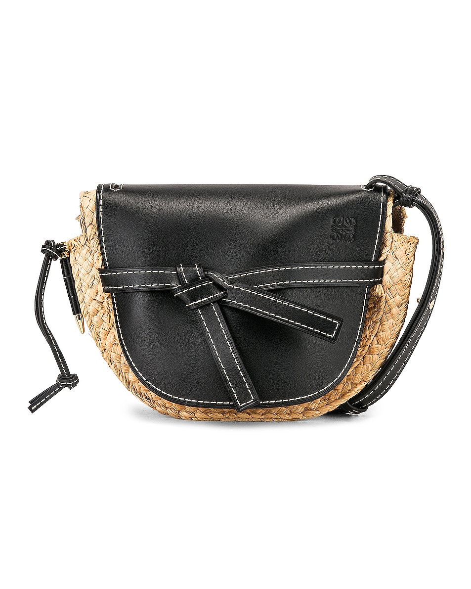 Image 1 of Loewe Gate Small Bag in Black & Natural