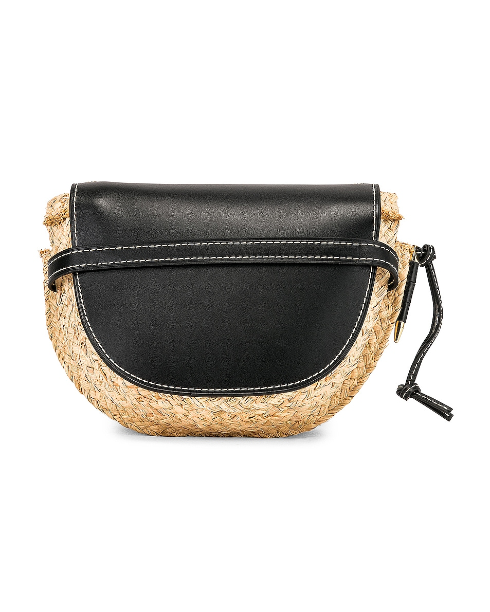 Image 3 of Loewe Gate Small Bag in Black & Natural