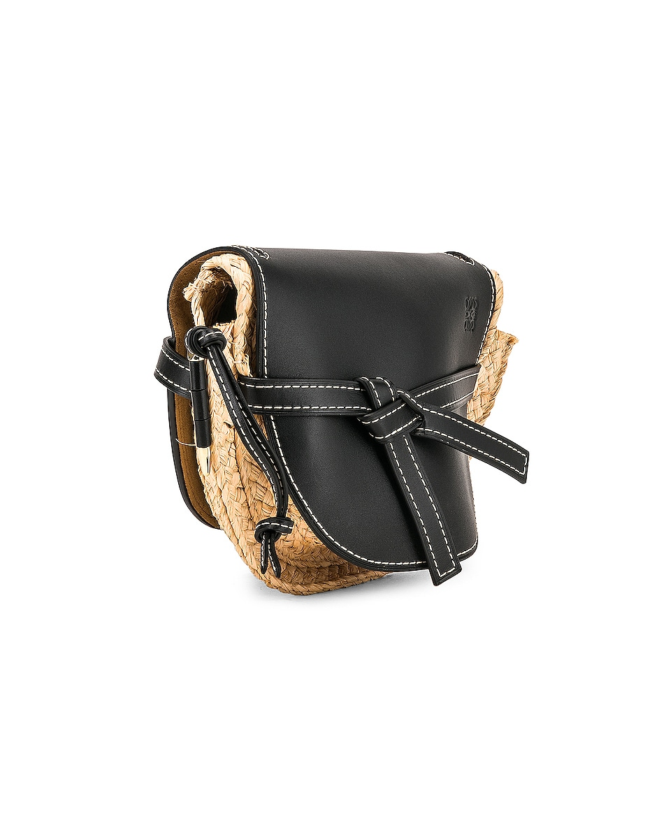 Image 4 of Loewe Gate Small Bag in Black & Natural
