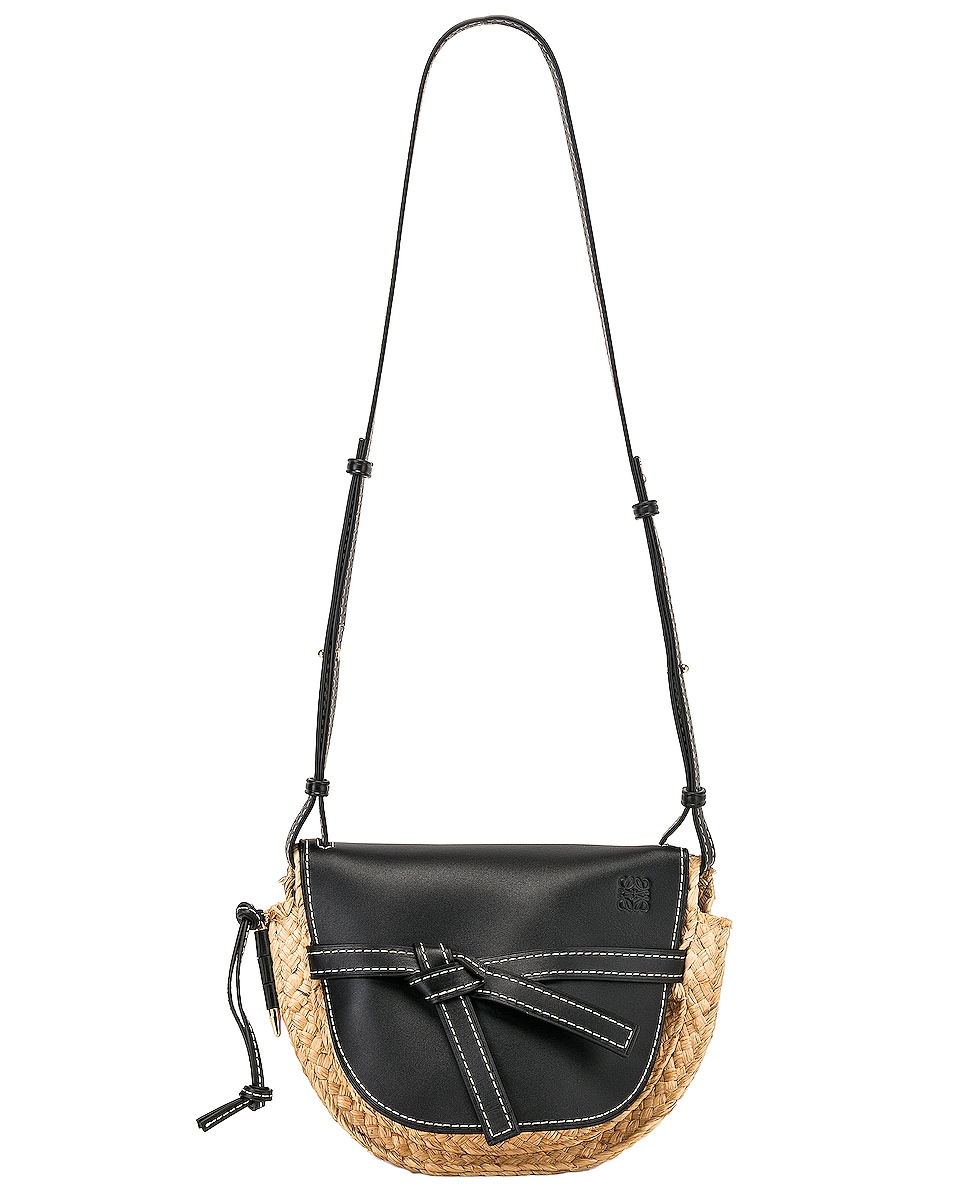 Image 6 of Loewe Gate Small Bag in Black & Natural