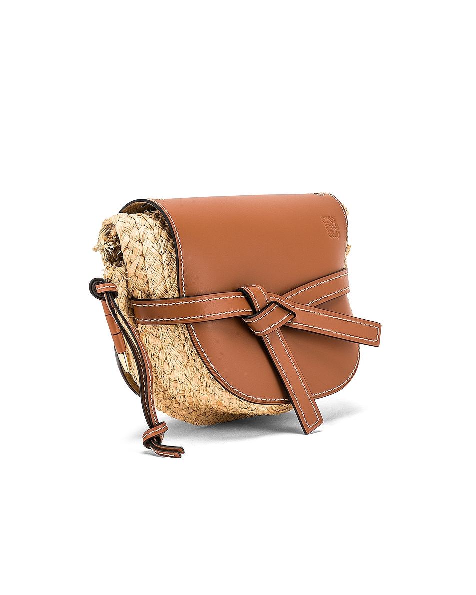 Image 4 of Loewe Gate Small Bag in Tan & Natural