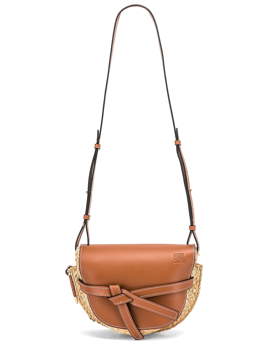 Image 6 of Loewe Gate Small Bag in Tan & Natural