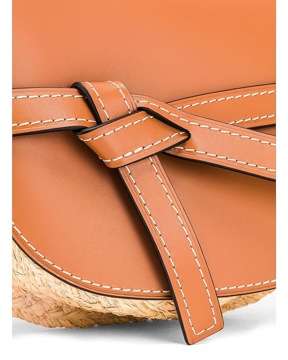 Image 8 of Loewe Gate Small Bag in Tan & Natural