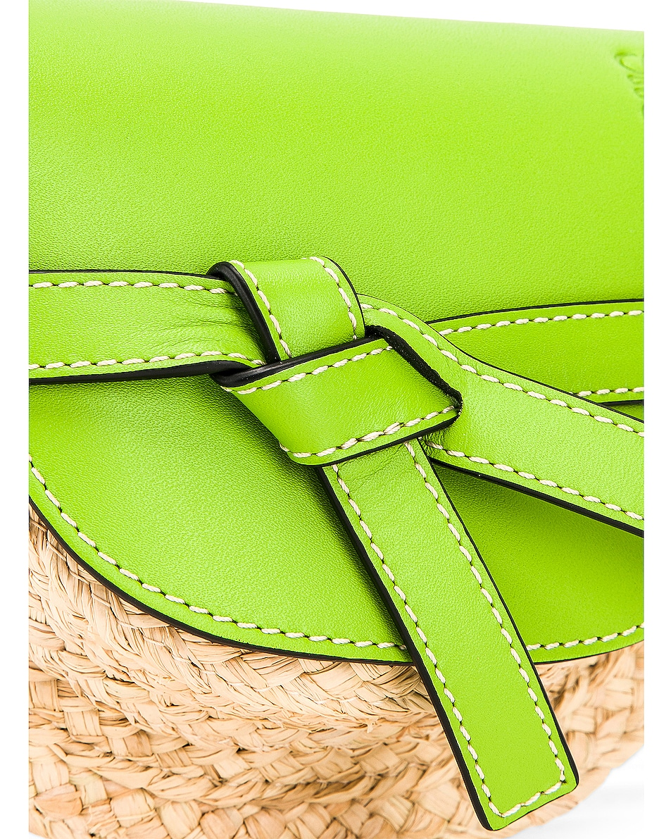 85%OFF Loewe Mini Gate Bag Green & Natural