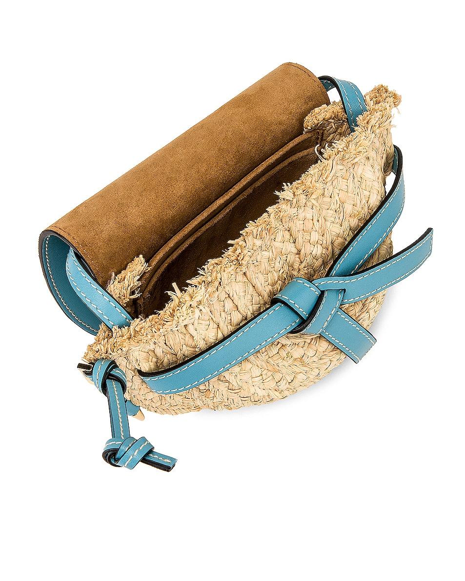 Image 5 of Loewe Mini Gate Bag in Light Blue & Natural