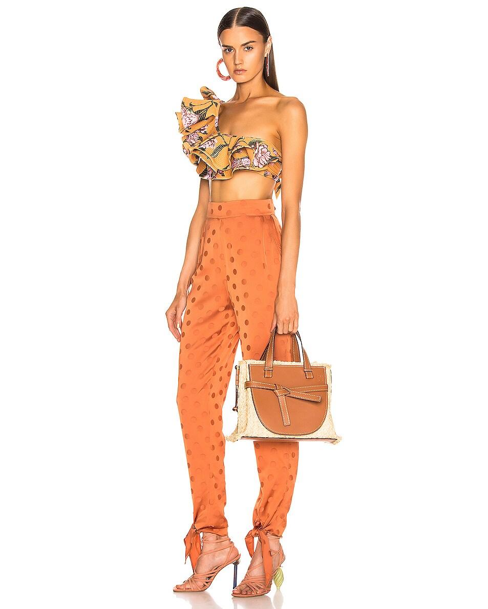 Image 2 of Loewe Gate Top Handle Small Bag in Tan & Natural