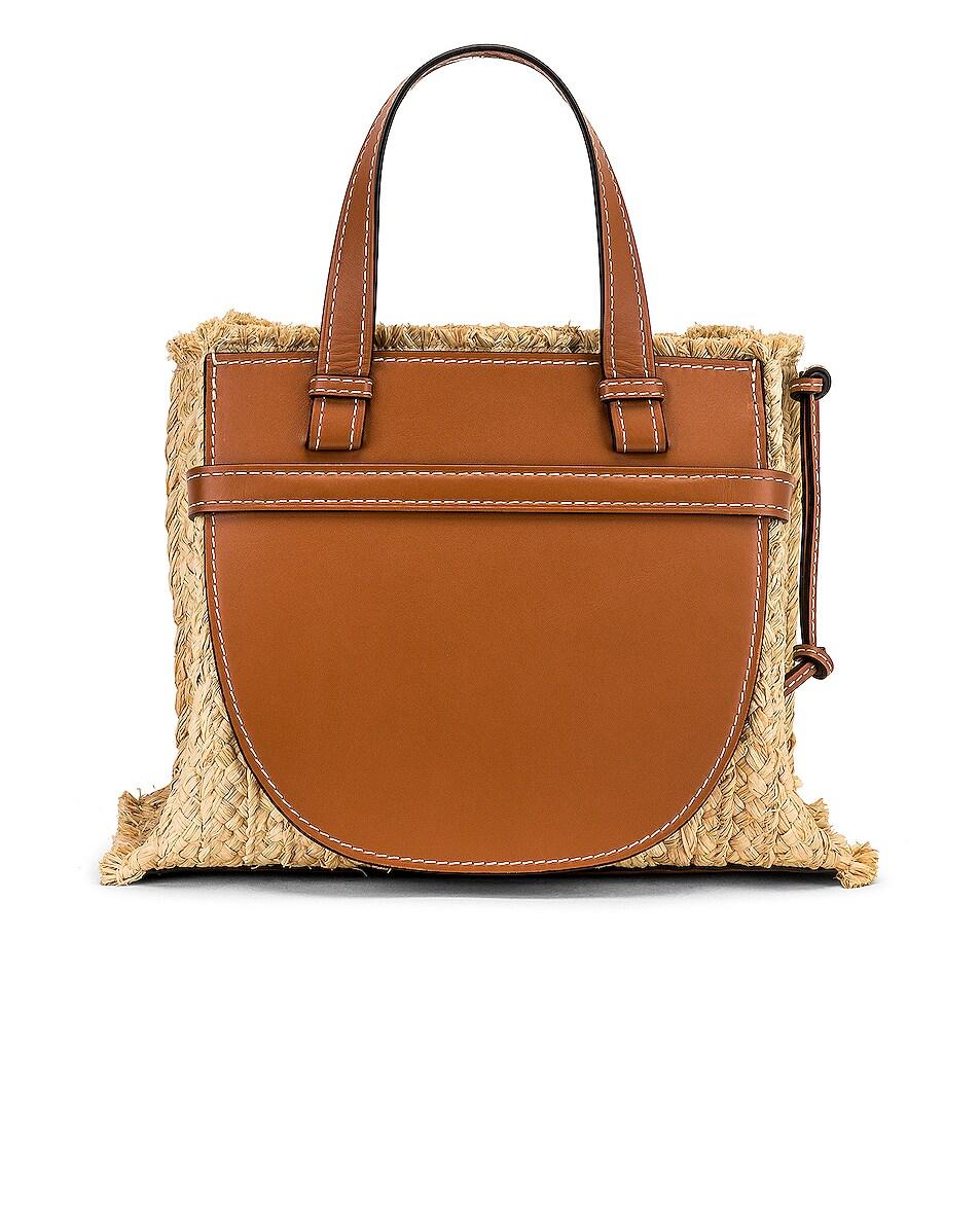 Image 3 of Loewe Gate Top Handle Small Bag in Tan & Natural