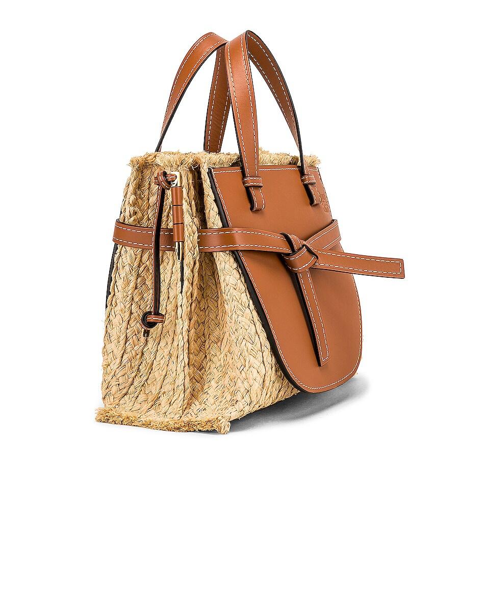 Image 4 of Loewe Gate Top Handle Small Bag in Tan & Natural