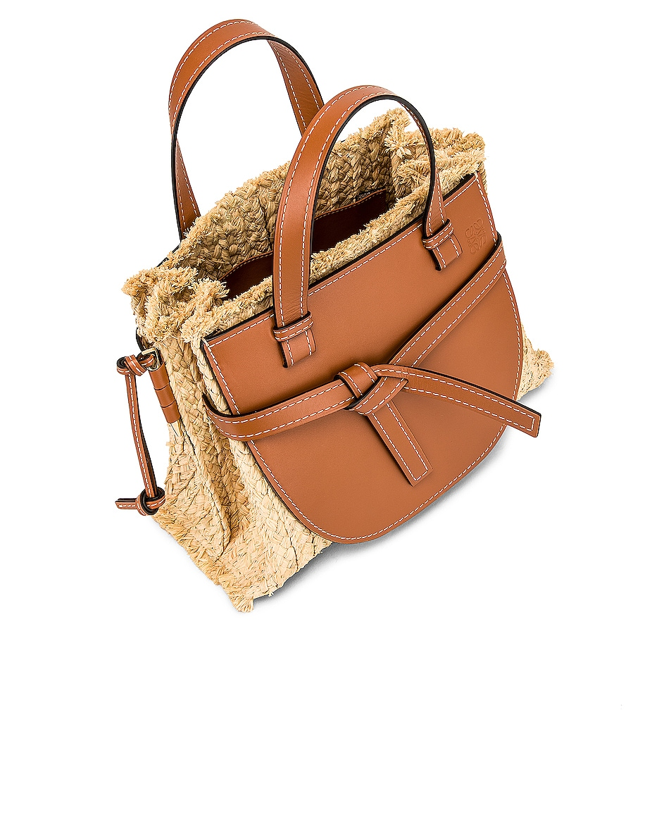 Image 5 of Loewe Gate Top Handle Small Bag in Tan & Natural