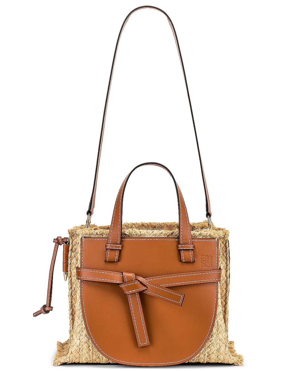 Image 6 of Loewe Gate Top Handle Small Bag in Tan & Natural
