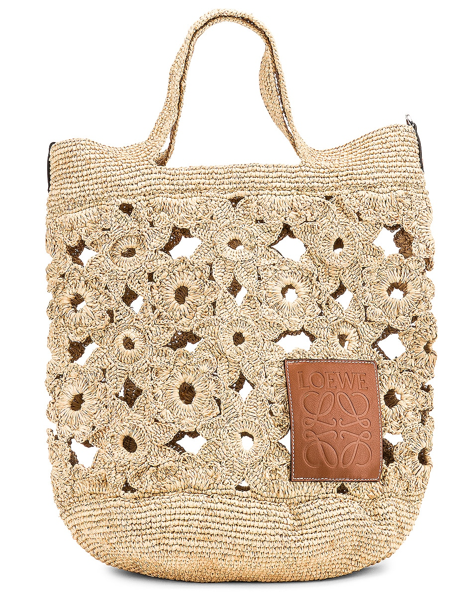 Image 1 of Loewe Slit Crochet Bag in Natural