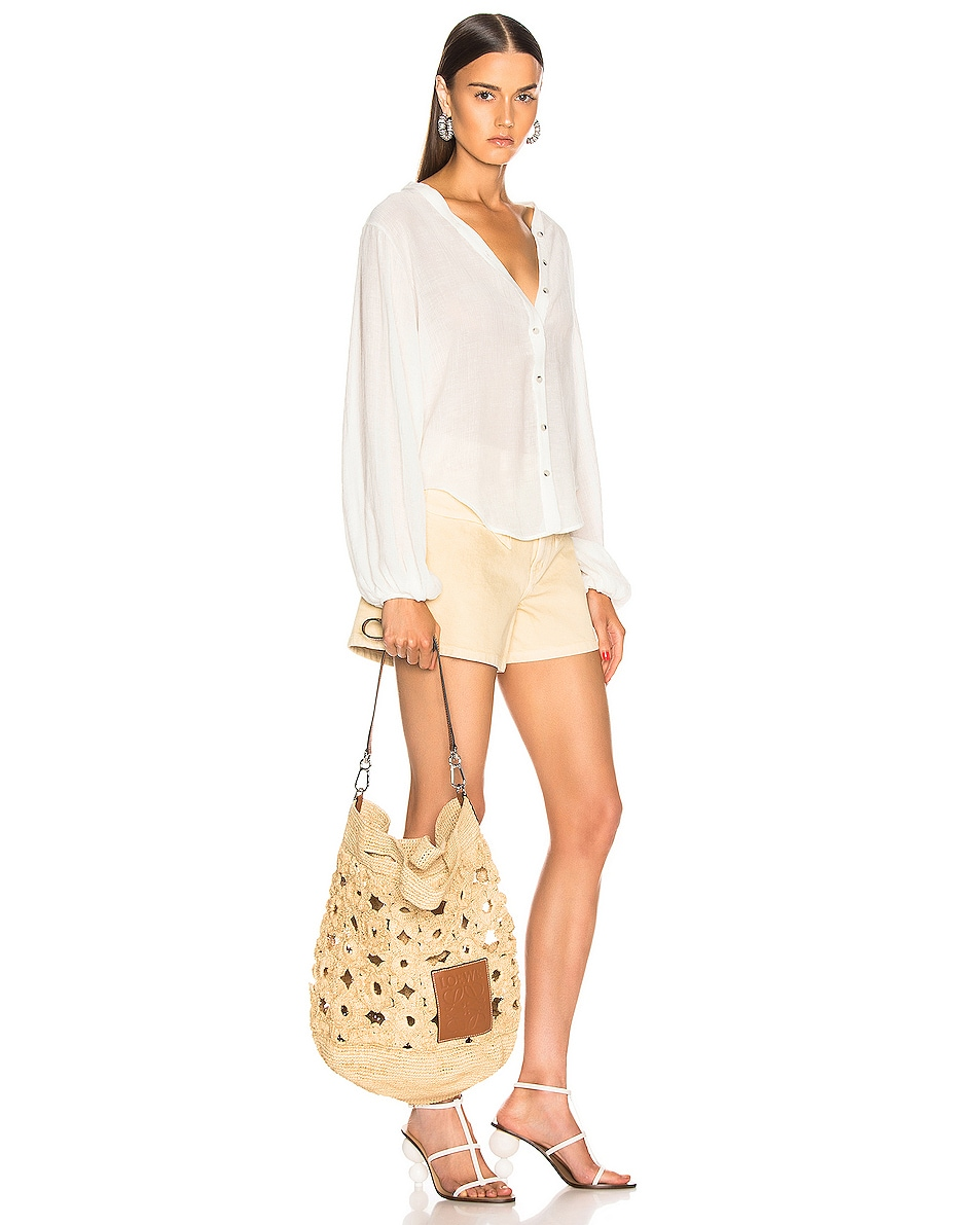 Image 2 of Loewe Slit Crochet Bag in Natural
