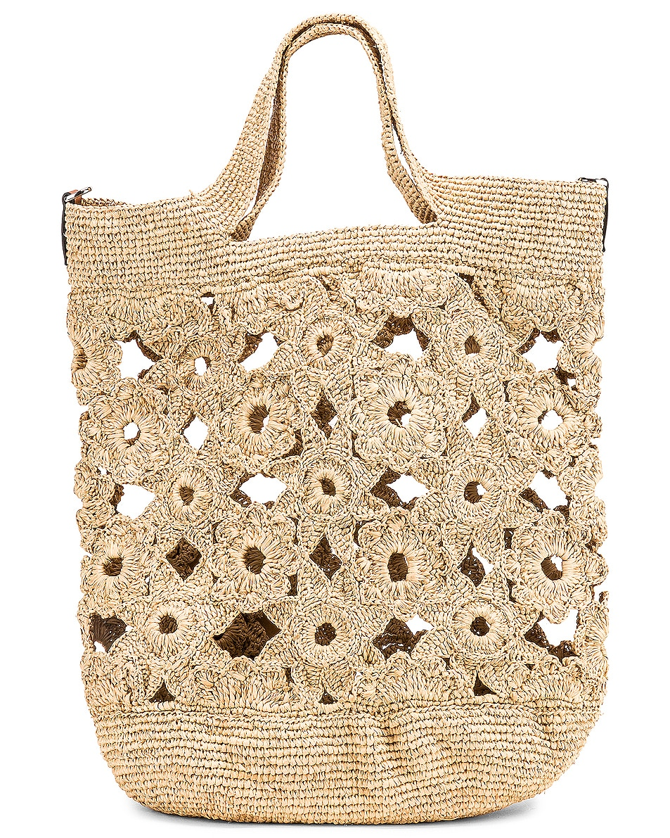 Image 3 of Loewe Slit Crochet Bag in Natural