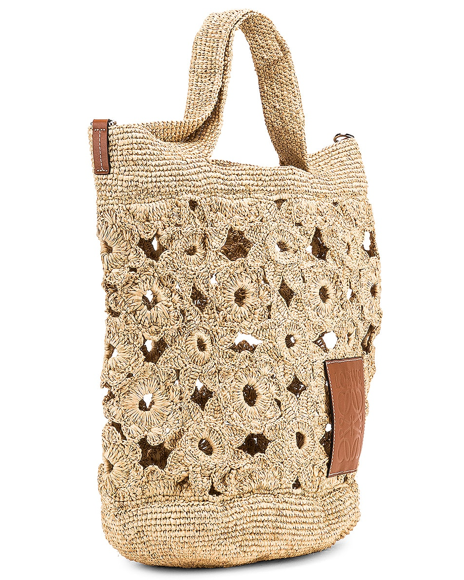 Image 4 of Loewe Slit Crochet Bag in Natural