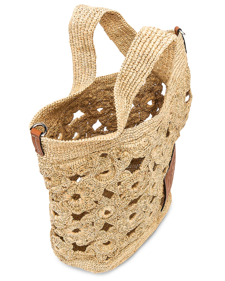 Image 5 of Loewe Slit Crochet Bag in Natural