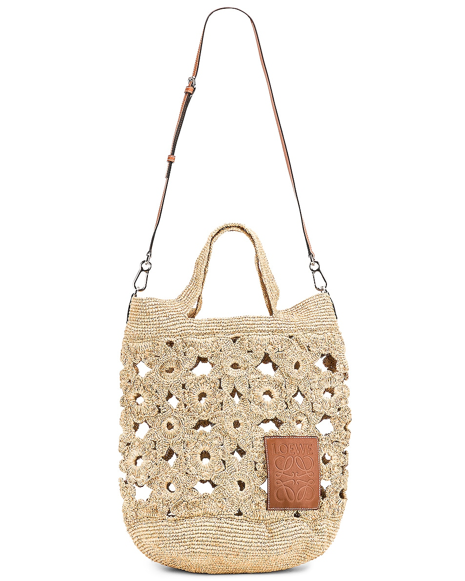Image 6 of Loewe Slit Crochet Bag in Natural