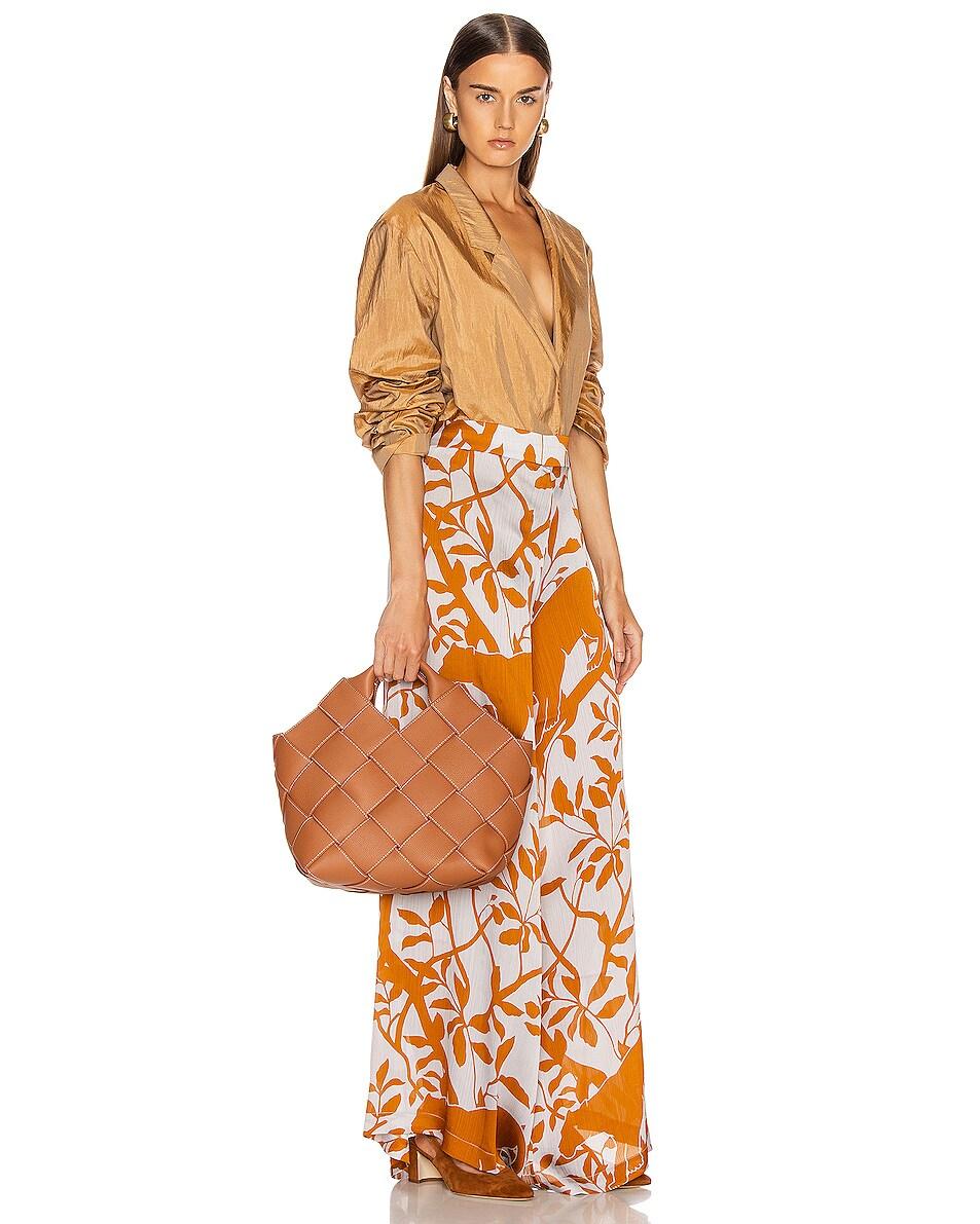 Image 2 of Loewe Woven Basket Bag in Tan