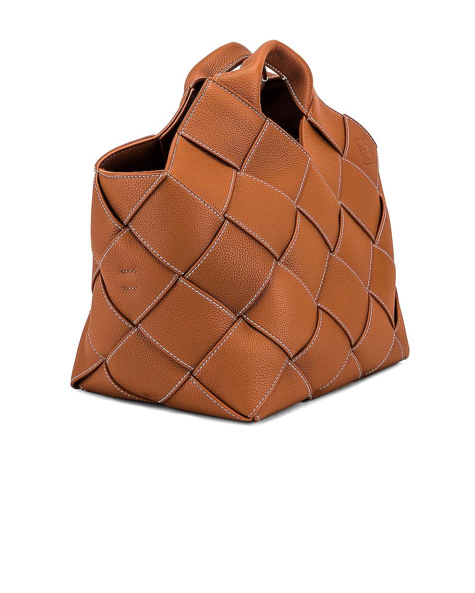 Image 4 of Loewe Woven Basket Bag in Tan