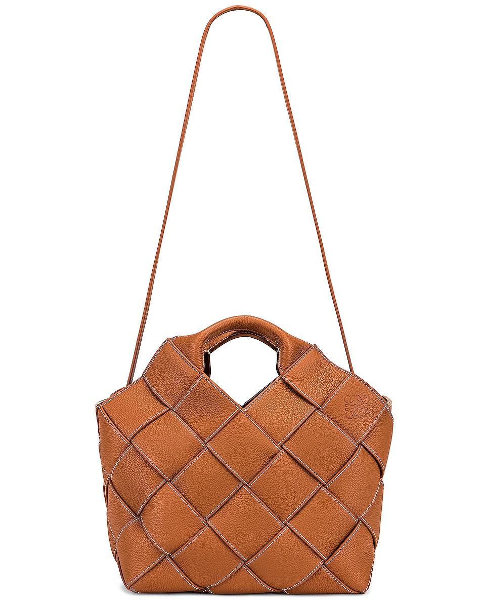 Image 6 of Loewe Woven Basket Bag in Tan