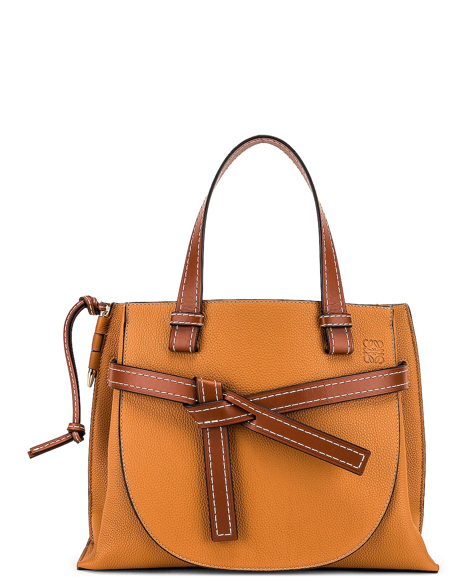 Image 1 of Loewe Gate Top Handle Small Bag in Caramel & Pecan