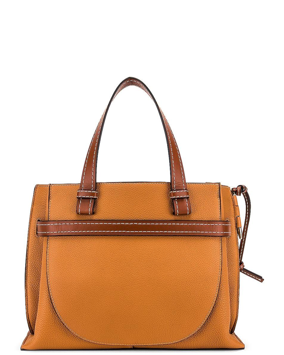 Image 3 of Loewe Gate Top Handle Small Bag in Caramel & Pecan