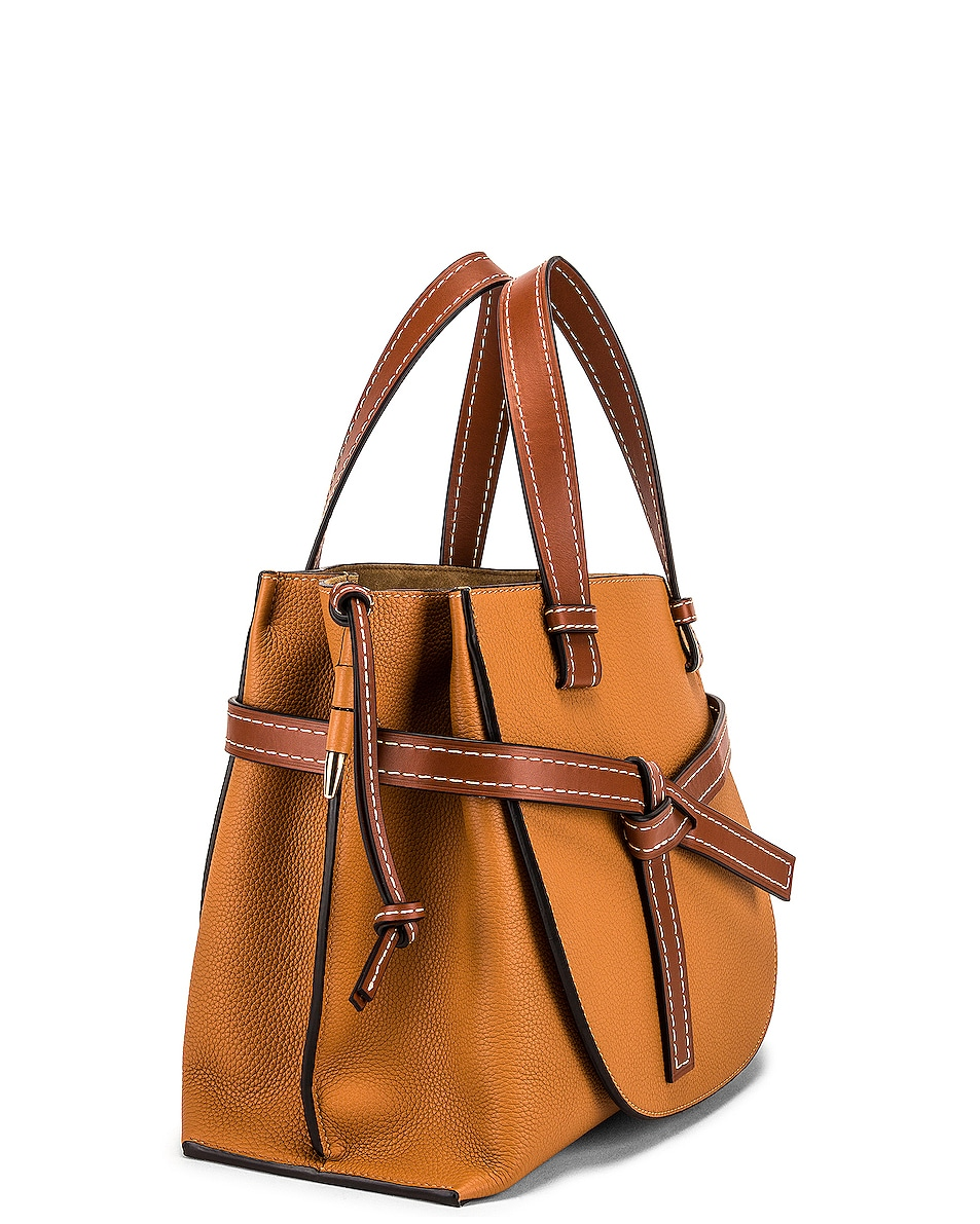 Image 4 of Loewe Gate Top Handle Small Bag in Caramel & Pecan