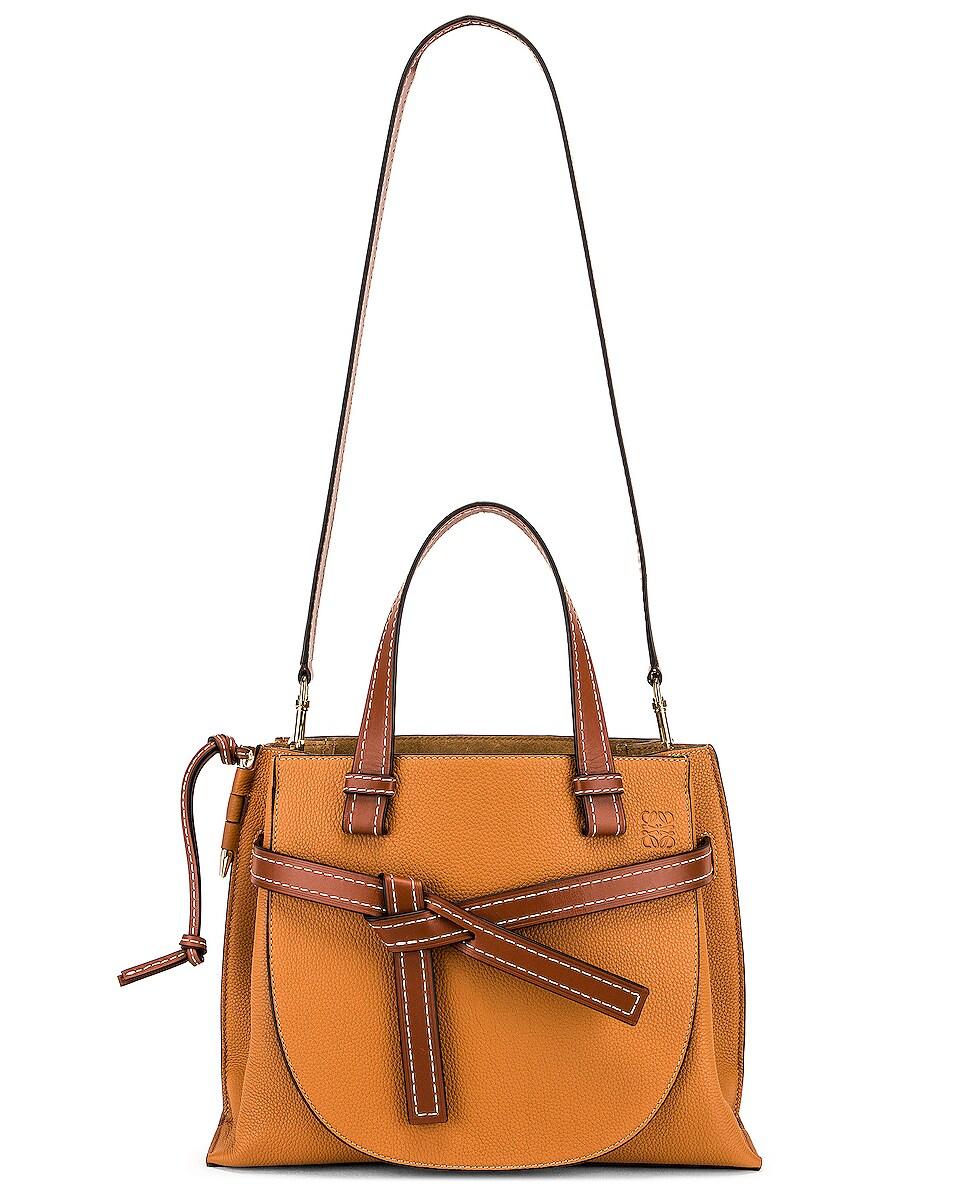 Image 6 of Loewe Gate Top Handle Small Bag in Caramel & Pecan