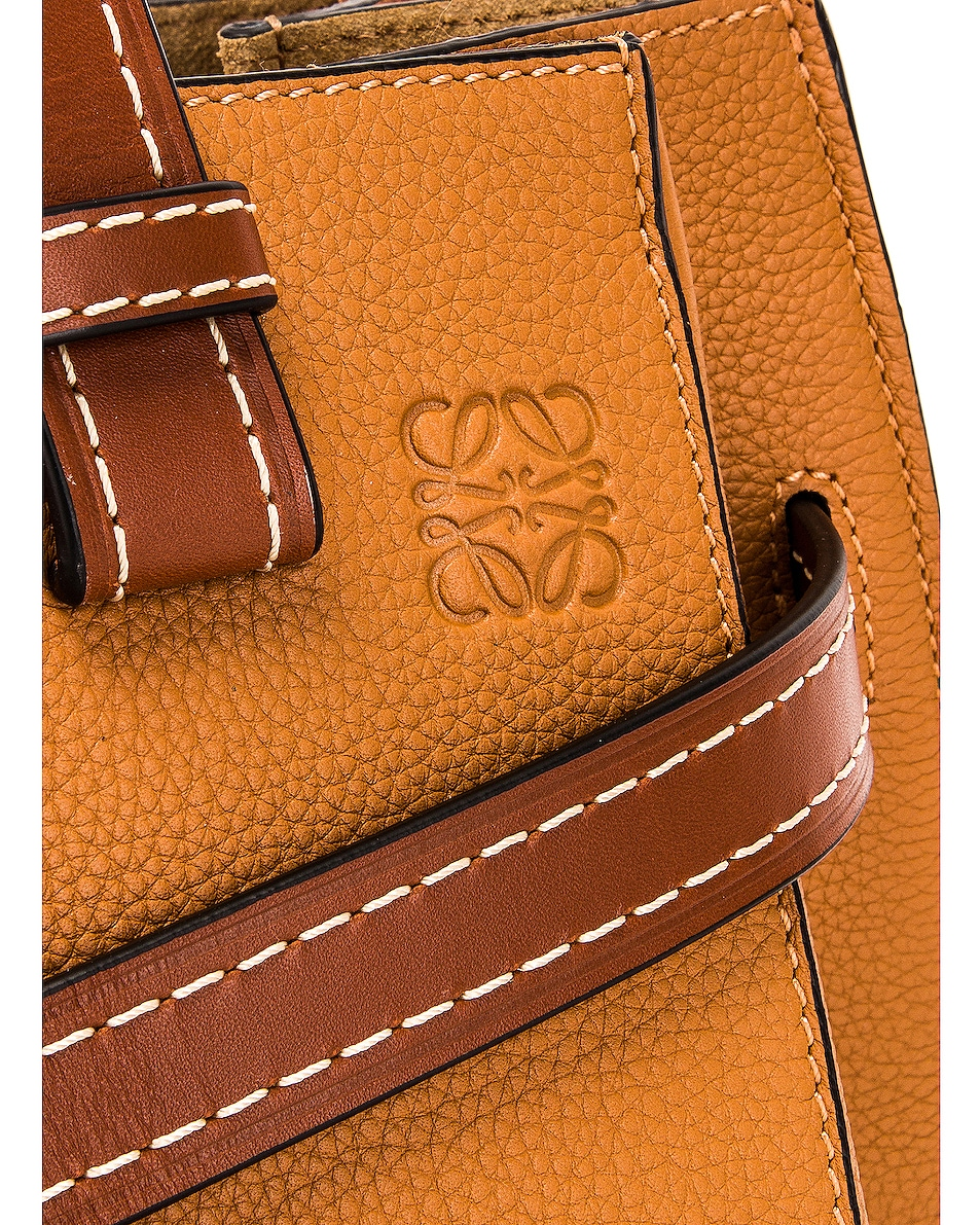 Image 8 of Loewe Gate Top Handle Small Bag in Caramel & Pecan