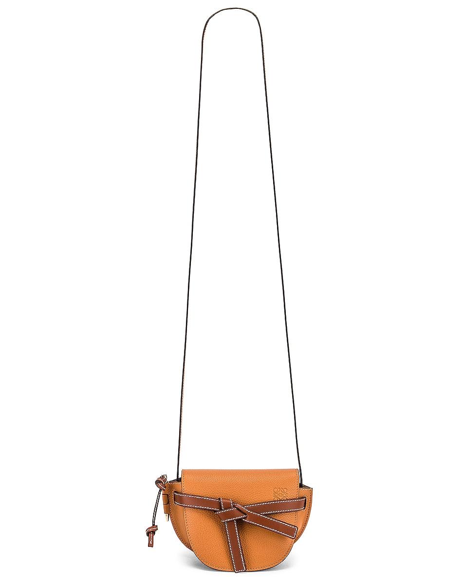 Image 6 of Loewe Mini Gate Bag in Light Caramel & Pecan