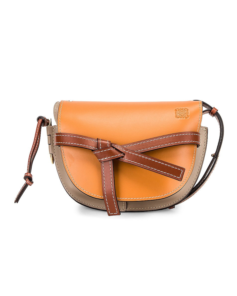 Image 1 of Loewe Gate Small Bag in Amber, Light Grey & Rust