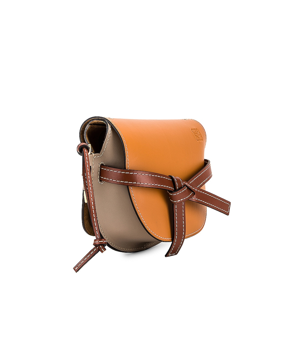 Image 4 of Loewe Gate Small Bag in Amber, Light Grey & Rust