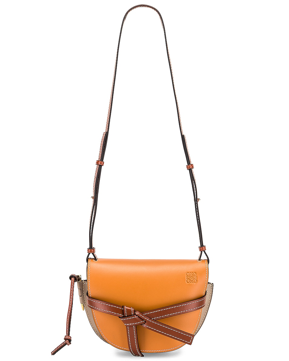 Image 6 of Loewe Gate Small Bag in Amber, Light Grey & Rust