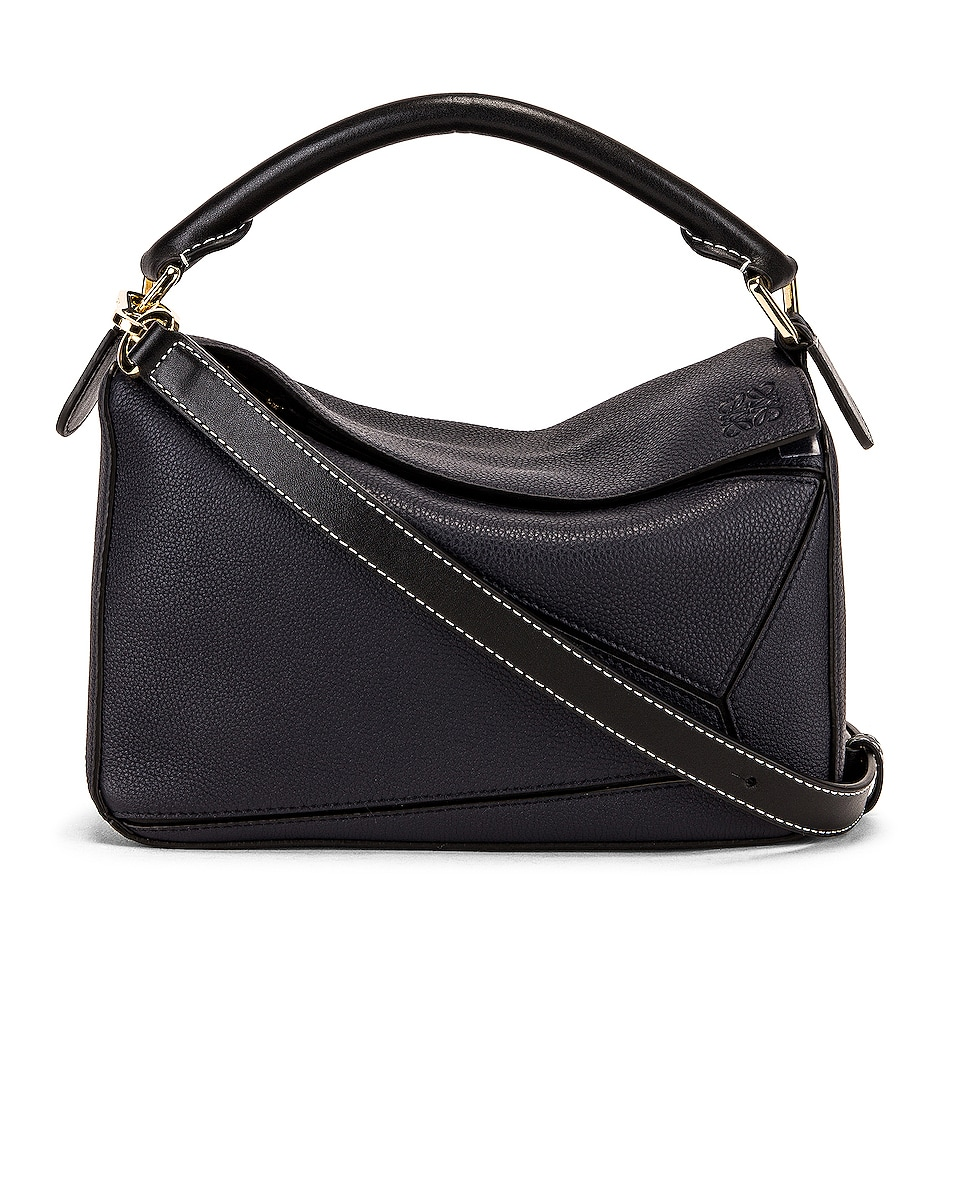 Image 1 of Loewe Puzzle Small Bag in Midnight Blue & Black