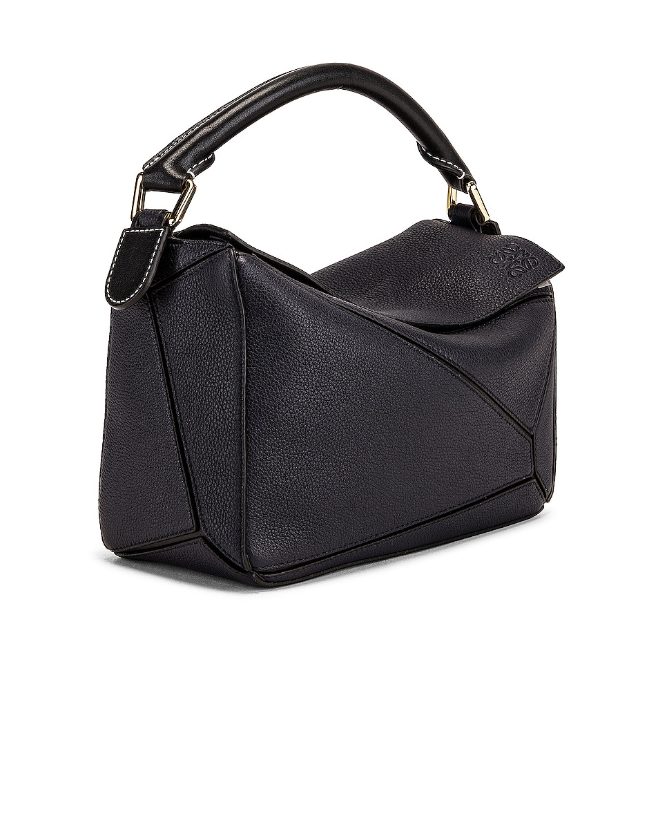 Image 4 of Loewe Puzzle Small Bag in Midnight Blue & Black