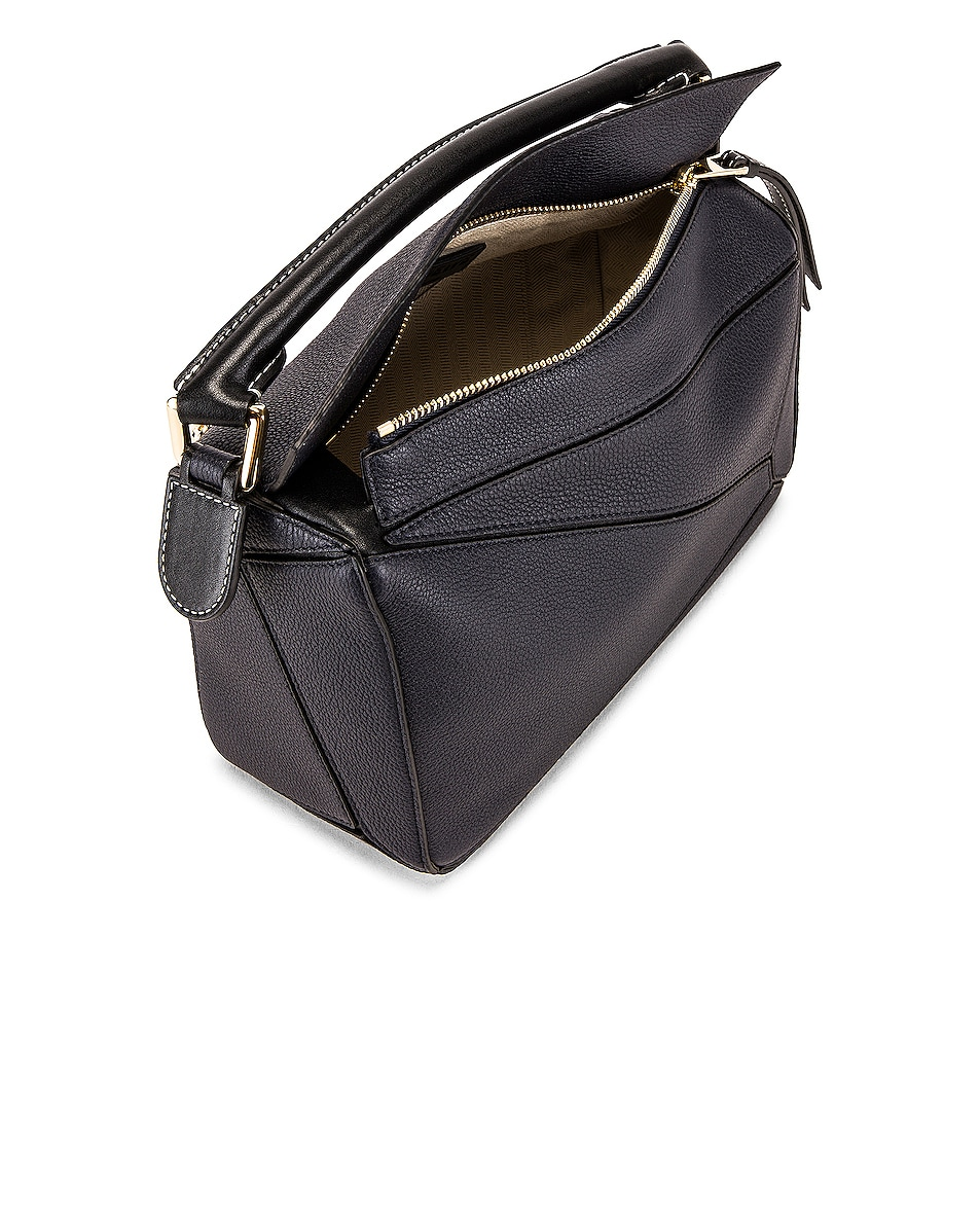 Image 5 of Loewe Puzzle Small Bag in Midnight Blue & Black